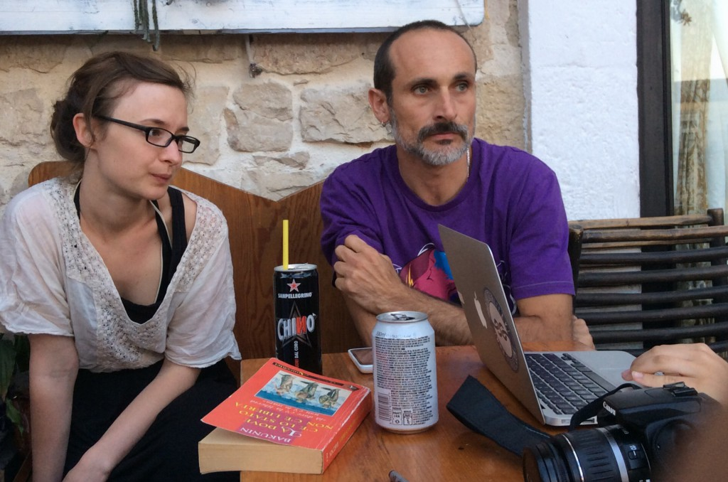 Anna und Enzo beim Austausch