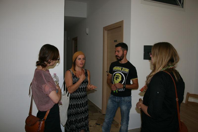 Anna, Anne und Sophie mit Piero
